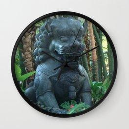 Guardian Lion Photograph Wall Clock