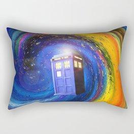 Tardis Doctor Who Fly into Time Vortex Rectangular Pillow