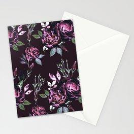 Lisianthus Dark Pink Pattern Stationery Cards