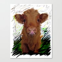 cow Canvas Prints featuring cow by Vector Art