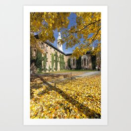Nassau Hall Autumn Scenic Art Print