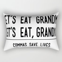 Let's Eat Grandma - Commas Save Lives Rectangular Pillow
