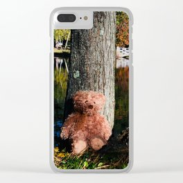 Russet Teddy at the pond Clear iPhone Case