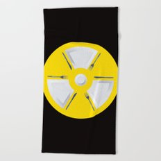 Polluted - Dinner Time Symbol Beach Towel