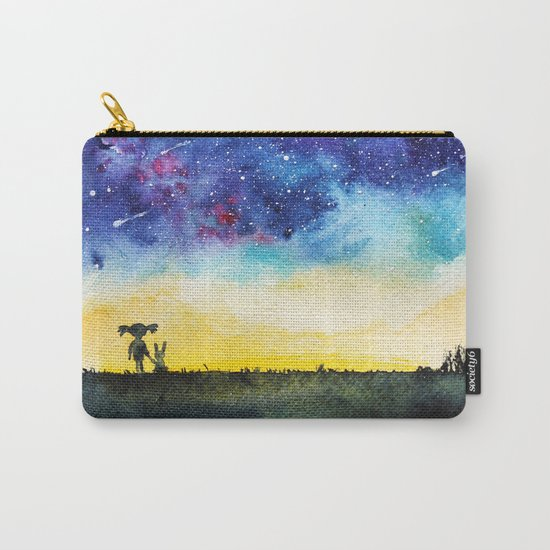 Making wishes on a shooting star Carry-All Pouch