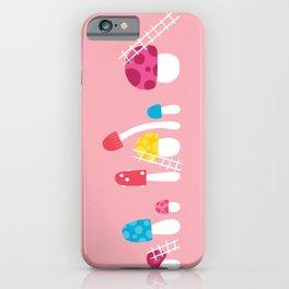 Mushroom Maintenance Pink iPhone Case
