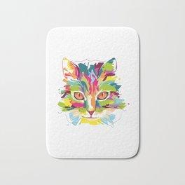 Cat Colorful Variation Bath Mat