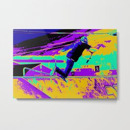 Tail Whip Tryout  - Stunt Scooter Metal Print