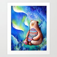 Spirit Bear Tribal Print Art Print