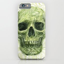 Leafy Skull iPhone Case