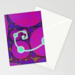 Dark Fibonacci Spiral Fractal Stationery Cards