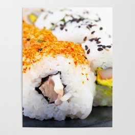 Sushi on a plate Poster