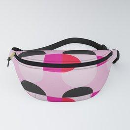 Mid Century Modern Pink Red Black Geometric Fanny Pack