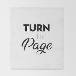 Turn the page Throw Blanket
