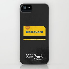 """This is New York for me. """"Metrocard"""" iPhone Case"""