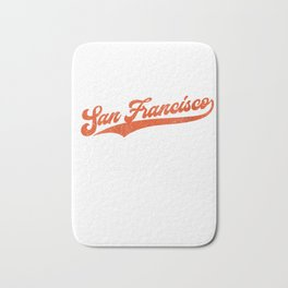 Womens San Francisco Baseball | California SF Pride Giant Gift V-Neck T-Shirt Bath Mat