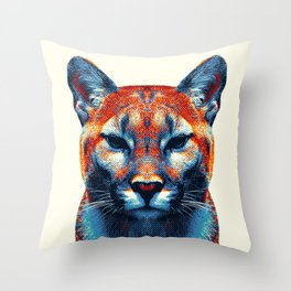 Puma -  Colorful Animals Throw Pillow