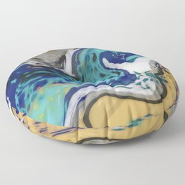 The Raging River Abstract Floor Pillow