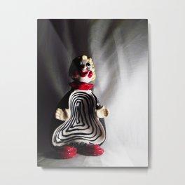Death Spiral Ashtray Clown Metal Print