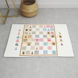 Chess by Dennis Weber of ShreddyStudio Rug