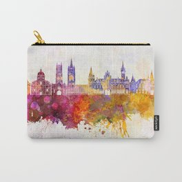 Ghent skyline in watercolor background Carry-All Pouch