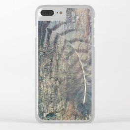 Bark Feather Clear iPhone Case