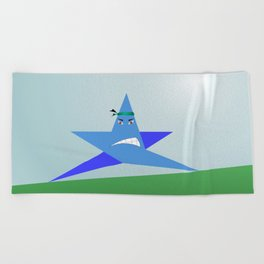 Angry star Poster Beach Towel