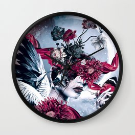 Queen of Flowers Wall Clock