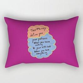 2 things define u Rectangular Pillow
