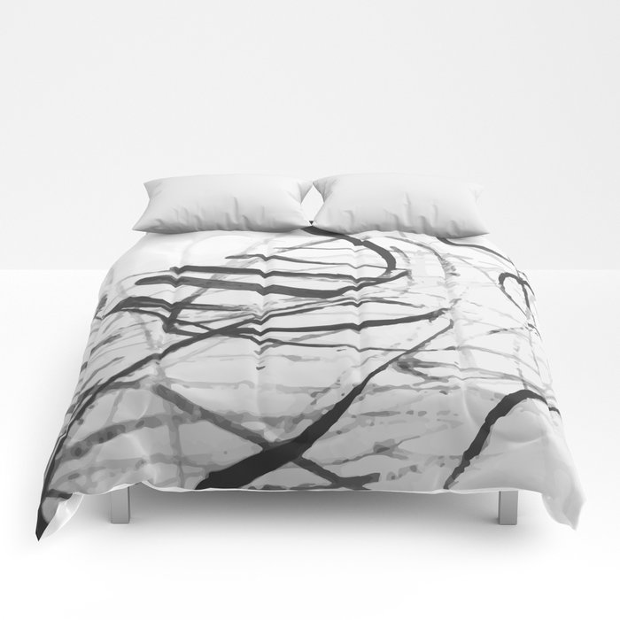 wild black strokes Comforters