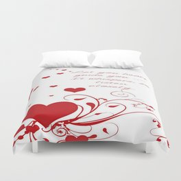Let Your Heart Guide You Valentine Message Duvet Cover