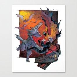 Werewolf vs Vampire Canvas Print