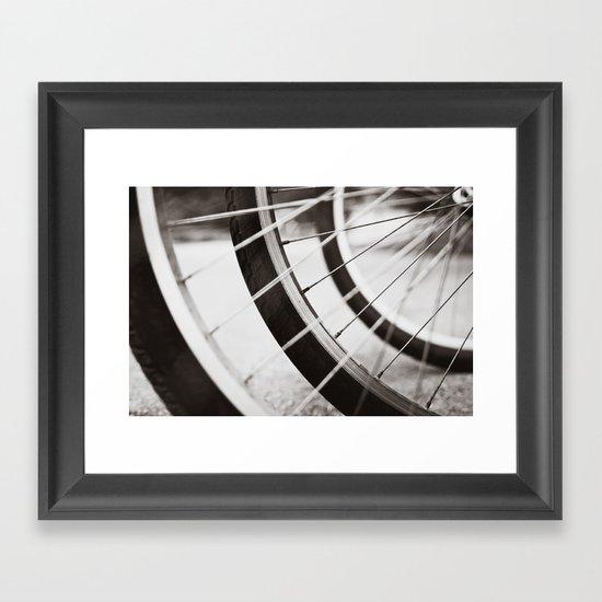 Let's Ride Framed Art Print