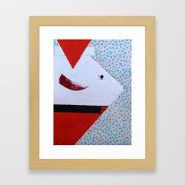 """Big """"Red"""" Fishes You Merry Christmas! Framed Art Print"""