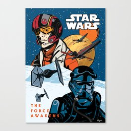 Poe Dameron vs. Tie Fighter Pilot Canvas Print