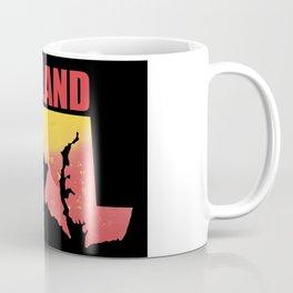 Maryland State Map Watercolor Print Coffee Mug