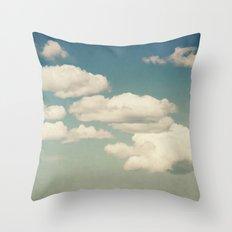 Aqua Sky Throw Pillow