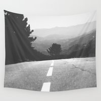 road Wall Tapestries featuring road by Ingrid Beddoes