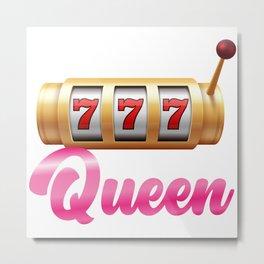 Slot Machine Queen Castle Lever Gambling Metal Print