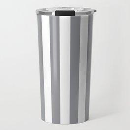 Vertical Grey Stripes Travel Mug