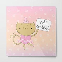 Kitty - Self Control - Fruit of the Spirit Metal Print