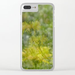 Layered Wildflowers Clear iPhone Case