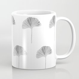 Grey Ginko Leaf - Minimalist Nature Coffee Mug