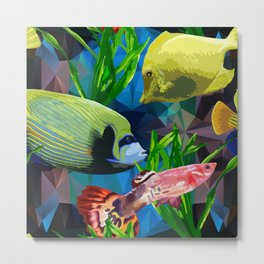 exotic fish in the underwater world Metal Print