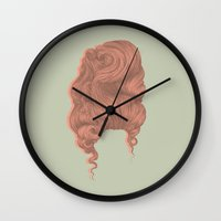 marie antoinette Wall Clocks featuring Marie Antoinette by Georgi Taylor Wills
