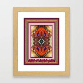 RED T-BIRD GEM Framed Art Print