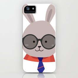 Cute Face Bunny Easter Day Gif Kids Boy Men iPhone Case