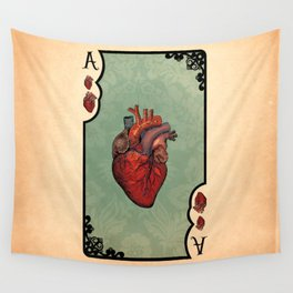 ace of hearts Wall Tapestry