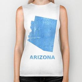 Arizona map outline Blue Jeans watercolor Biker Tank