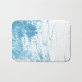 Dark sky blue abstract watercolor Bath Mat
